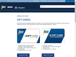 Navy Exchange gift card purchase