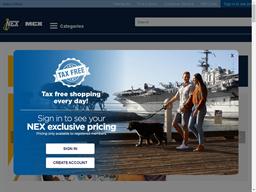 Navy Exchange shopping