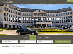 Nemacolin Woodlands Resort gift card balance check
