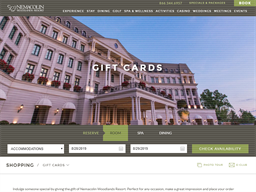 Nemacolin Woodlands Resort gift card purchase