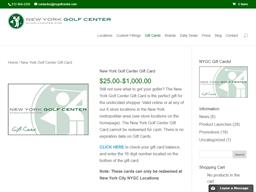 New York Golf Center gift card purchase