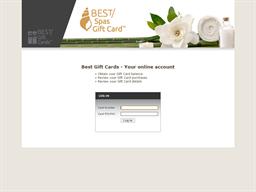 Best Spas gift card balance check