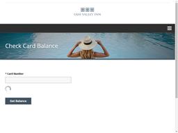 Ojai Valley Inn & Spa gift card balance check