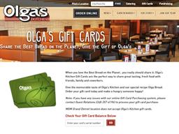 Olga's Kitchen gift card balance check