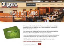 Olga's Kitchen gift card purchase