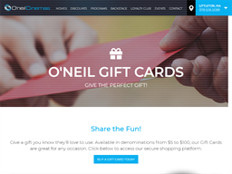 O'Neil Cinemas gift card balance check