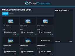 O'Neil Cinemas gift card purchase