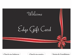 Edge Gift Card shopping