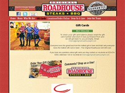 Original Roadhouse Grill gift card purchase