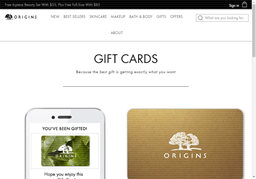 Origins gift card purchase