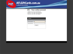 AFL gift card balance check