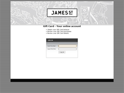 James St gift card balance check