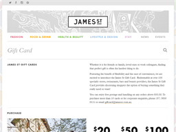 James St gift card purchase