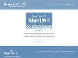 Pacific Catch gift card purchase