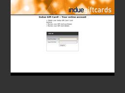 Indue gift card balance check