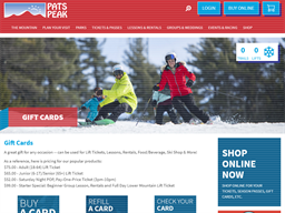 Pats Peak gift card purchase