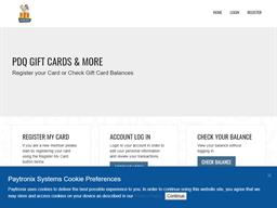 PDQ Restaurants gift card purchase