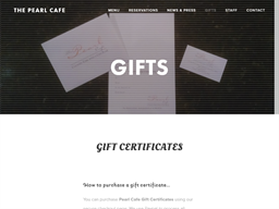 Pearl Cafe gift card purchase