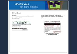 Peek gift card balance check