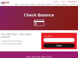 GiVV gift card balance check