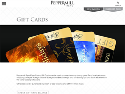 Peppermill Resort Hotel gift card purchase