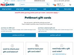Pet Smart gift card balance check