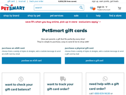 Pet Smart gift card purchase