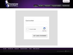Phantom Gourmet Restaurants gift card balance check
