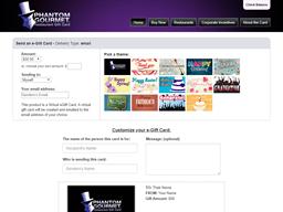 Phantom Gourmet Restaurants gift card purchase
