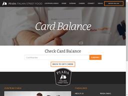 Piada Italian Street Food gift card balance check