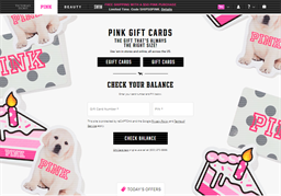 PINK by Victoria's Secret gift card balance check
