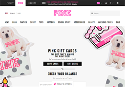 PINK by Victoria's Secret gift card purchase