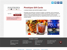 Pinstripes gift card purchase