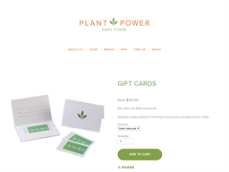 Plant Power Fast Food gift card purchase