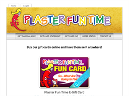 Plaster Fun Time gift card purchase