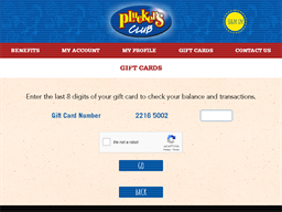 Pluckers gift card purchase