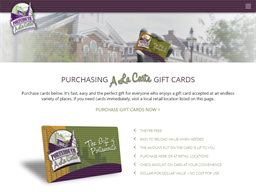 Portsmouth A La Carte gift card purchase