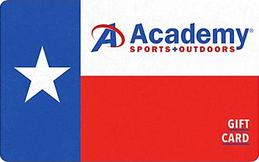 Academy Sports gift card design and art work