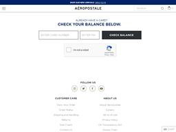 Aeropostale gift card balance check