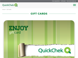 Quick Chek gift card purchase