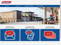 Race Trac gift card purchase