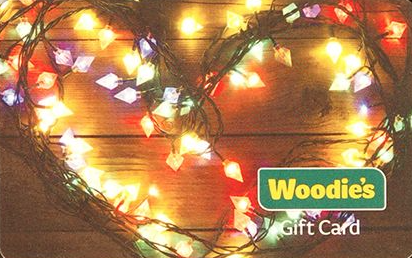 Woodie's gift card design and art work