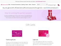 American Girl gift card balance check
