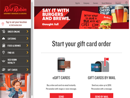 Red Robin gift card purchase