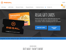 Regal Cinemas gift card purchase