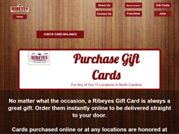 Ribeyes Steakhouse gift card purchase
