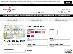 Ashley Stewart gift card balance check