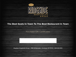 Ring Side Hospitality Group gift card purchase