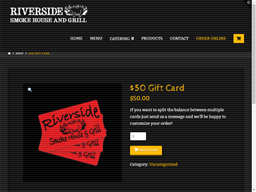 Riverside Smokehouse gift card purchase