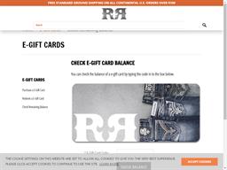Rock Revival gift card balance check